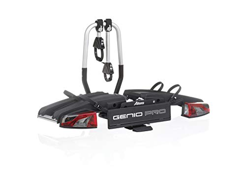 ATERA 022780 Genio Pro - Portabicicletas Universal para Remolque (Plegable, Ampliable, 2 Ruedas y 1 Bicicleta)