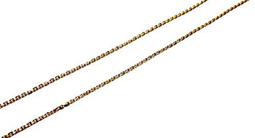 Collar de mujer de oro amarillo y blanco de 18 quilates (750) cadena gargantilla pirámide 45 cm bicolor