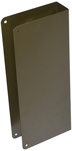 Don-Jo 90-CW 22 Gauge Stainless Steel Blank Wrap-Around Plate with Trim Screws, Oil Rubbed Bronze Finish, 5' Width x 12' Height
