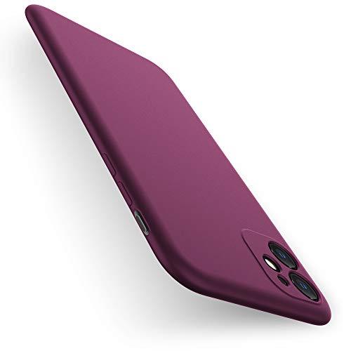 X-level iPhone 11 Hülle, [Dynamic Serie] Ultra Dünn Schutzhülle Silikon Handyhülle Handy Tasche Stoßfest Bumper Hülle Cover für Apple iPhone 11 - Weinrot