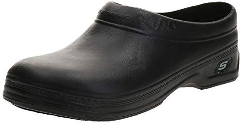 Skechers Clara - Zuecos para Mujer, Color Negro, Talla 38