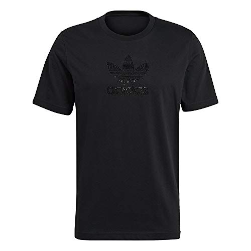 adidas GN3646 TREF RHINESTNE T-Shirt Uomo Black M