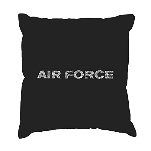Ol322ay Throw Pillow Cover AF Text Lyrics To The Air Force Song