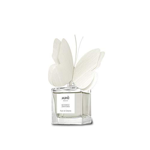 profumatore per ambienti fiori Muha' Butterfly Farfalla profumatore diffusore Made in Italy per Ambienti 50 ml Fiori di Cotone