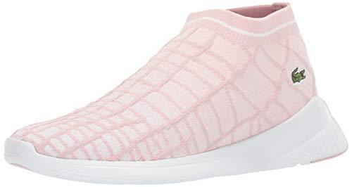 Lacoste Women's LT FIT Sneaker, light pink/white, 8 Medium US