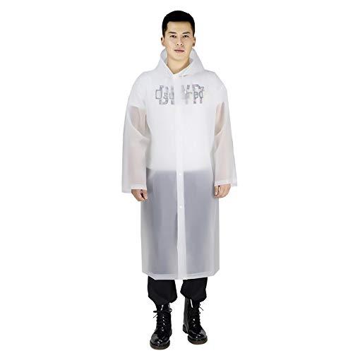 Raincoat Femmes Raincoat Hommes Black Rain Vêtements Couvre Imperméables Imperméables Poncho Manteau de Pluie Capuche imperméable (Color : White, Size : One Size)