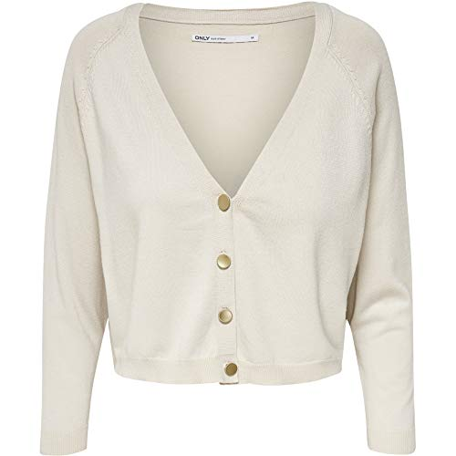 ONLY Cardigan Donna Cecilia 15191835 Beige XS