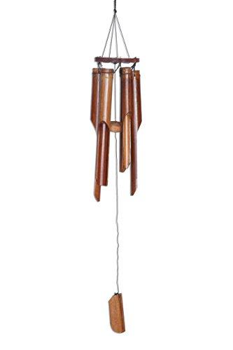 Großes Ca. 80cm Windspiel Klangspiel Feng Shui Garten Wetterfest Bambus Fair Trade Bambusrohr