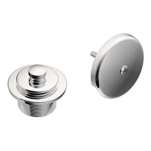 Moen T90331 Push-N-Lock Tub and Shower Drain Kit with 1-1/2 Inch Threads, Chrome