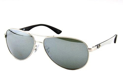 Ray-Ban Carbon Fibre Gafas de sol, Silver, 58 para Hombre
