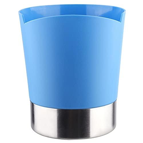 Caja de cubiertos de plástico premium Caja de cuchara para cafeterías para pajitas (azul)