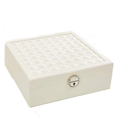SHYPT Joyería Caja Blanca - Pendientes de joyería de Almacenamiento portátil de Gran Capacidad Box