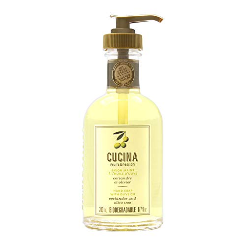Cucina Fruits & Passion Hand Soap with Oliver Oil - Coriander and Olive Tree 6.7oz