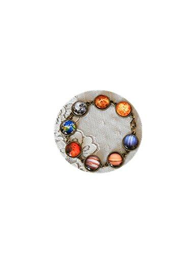 Pulsera con diseño de la Tierra, luna, sistema solar, planetas, galaxia, estrellas, cielo