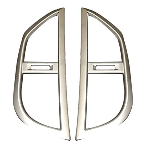 Shutters Accesorios para Mercedes-Benz Vito W447 2014 2015 2016 2017 2 piezas ABS Control medio aire acondicionado panel moldeado cubierta Kit Trim (Color: Plata)