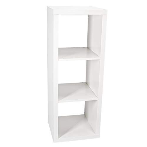 Ikea Kallax Regal, Bücherregal, Wandregal, Raumteiler in weiß (42 x 112 cm)