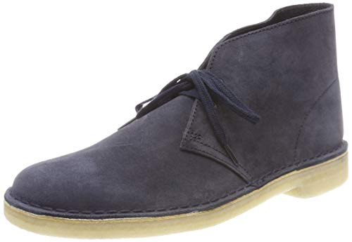 Clarks Originals Boot, Stivali Desert Boots Uomo, Blu (Ink Suede-), 45 EU