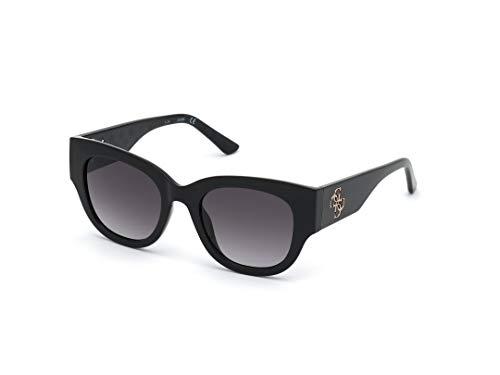 Guess gafas de sol GU7680 01B gafas de sol de las Mujeres de color Negro de la lente de humo con un tamaño de 50 mm