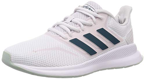 adidas Womens Runfalcon Sneaker, Footwear White/Tech Mineral/Dash Grey, 39 1/3 EU