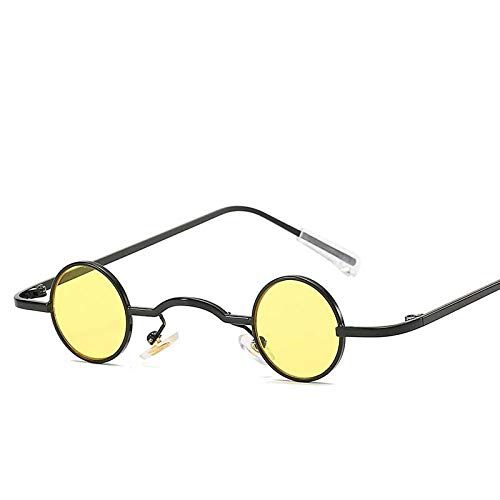 Ronde zonnebril Heren Dames Metaal Klein montuur Zonnebril Modieus Unisex Brillen UV400 J