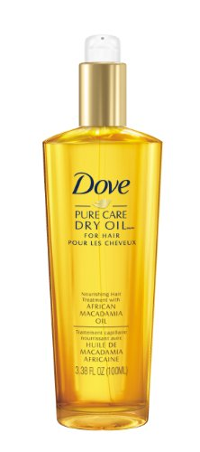 Dove Dry Oil, Pure Care Nourishing Hair Treatment with African Macadamia...