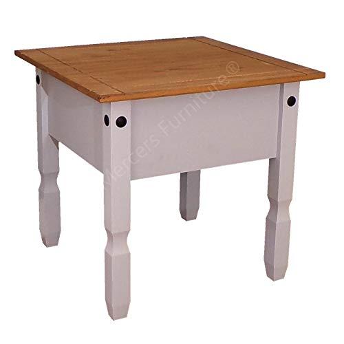 Mercers Furniture Corona Lampe Tisch, grau lackiert h-54cm w-58cm d-58cm