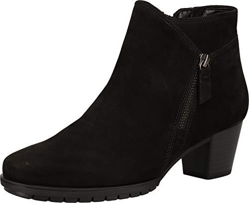 Gabor Damen elegante Stiefeletten, Frauen Ankle Boots,Mehrweite, halbstiefel knöchelhoch reißverschluss,schwarz (Micro),36 EU / 3.5 UK