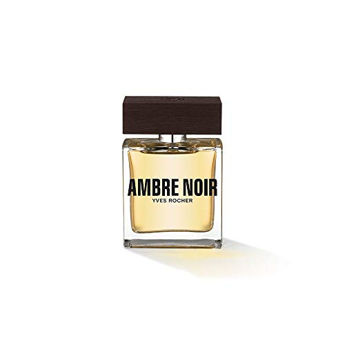 Yves Rocher AMBRE NOIR Eau de Toilette, Parfüm für Herren, sinnlich-eleganter Duft, Valentinstag Geschenkidee für Männer,1 x Zerstäuber 50 ml