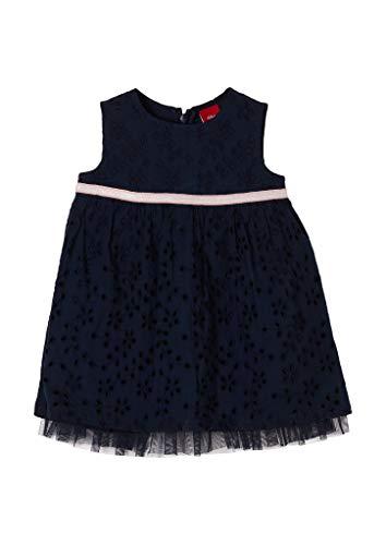 s.Oliver Junior Baby-Mädchen 405.10.102.20.200.2062585 Kleid für besondere Anlässe, Navy, 80