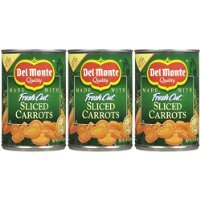 Del Monte Sliced Carrots, 14.5 oz, 3 pk