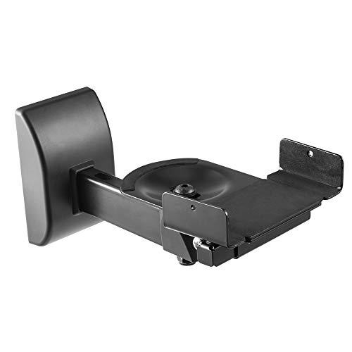 RICOO LH051-B Lautsprecher Halterung (2 Stück) Universal Schwarz Schwenkbar Neigbar Airplay Speaker Halter Wall Mount Boxen-Wandhalterung