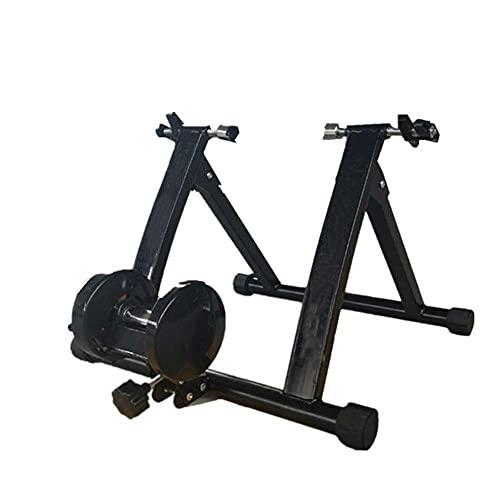 DKBE Soporte para Entrenador de Bicicleta para Interior, portátil, Plegable, Ejercicio, Entrenador de Bicicleta magnético con Ruedas de reducción de Ruido