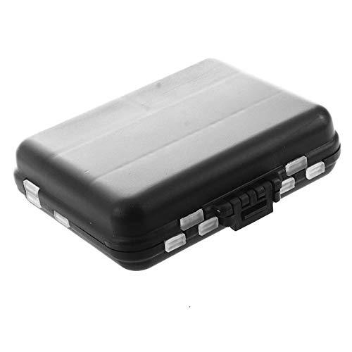 KTESL Étanche Outil De Pêche Écologique Lure Bait Tackle Boîte De Rangement Case Conteneur avec 26 Compartiments (Color : Black)