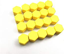 SY-LTLM, Rueda de Coche Tuercas Tuercas Tornillos Tornillo Cubierta for Daewoo Matiz Nexia Nubira Sens Tosca Winstorm (Color : 21mm Yellow)