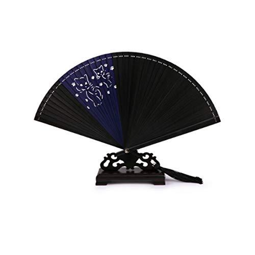 HUIJUNWENTI Ventilador Kong Ming, abanico chino, abanico de plumas vintage hecho a mano, abanico de viento antiguo Ming, abanico artesanal, lupino de manivela de rendimiento diario, regalo de estilo c