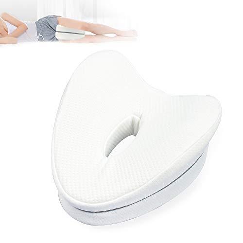 Pulchram Kniekissen für Seitenschläfer,ergonomisches Memory Foam Beinkissen,Leg Pillow für Damen Herren Druckentlastung Hüfte Bein Knie Rücken und Schwangerschaft (Weiß)