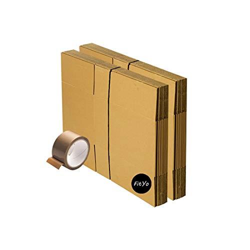 Kit de déménagement 20 cartons livres 36 x 28 x 28 cm + 1 adhésif Offert. Idéale déménagement ou expédition. De la marque FitYo
