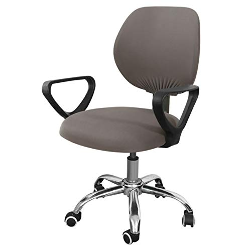 Swivel chair cover, retractable mobile computer office washable rotating spandex elastic arm seat cover cushion, chair cover