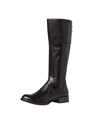 Tamaris Damen Stiefel, Freizeit Boots lederstiefel langschaftstiefel reißverschluss weiblich Lady Ladies Women's Women Woman,Black,38 EU / 5 UK
