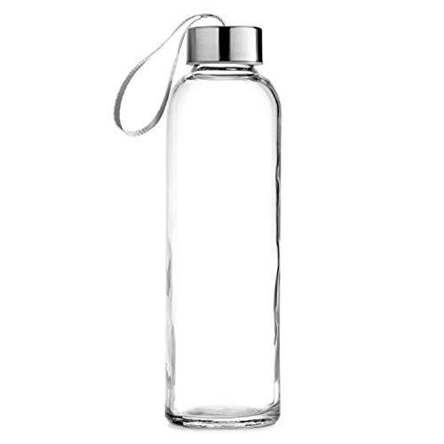 Copa de vidrio transparente