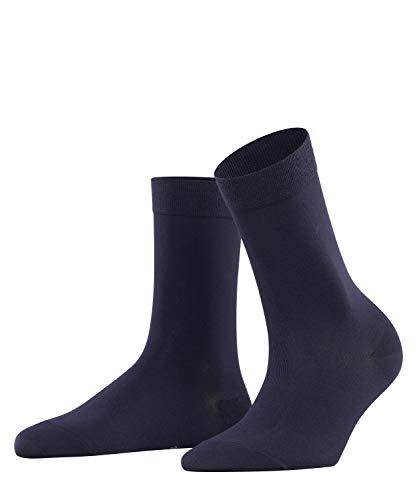 FALKE Damen Socken Cotton Touch - Baumwollmischung, 1 Paar, Blau (Dark Navy 6379), Größe: 35-38
