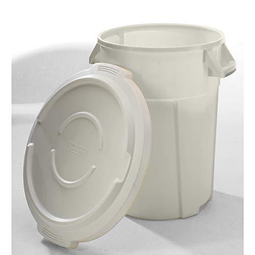 Conteneur multi-fonctions en plastique - capacité 85 l, revêtement qualité alimentaire - blanc - collecteur de déchets collecteur de tri collecteurs de tri conteneur multi-usages poubelle poubelle de tri poubelle à ordures poubelles de tri Collecteur de