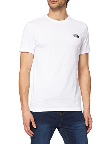 The North Face T92TX5 Camiseta De Manga Corta Simple Dome, Hombre, Blanco (TNF White), S