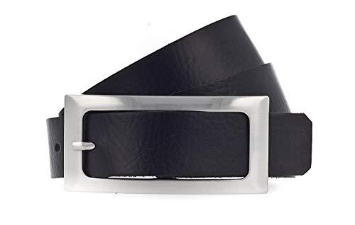 Vanzetti Damen Leder Gürtel Rindleder Damengürtel 30 mm Ledergürtel (95, Schwarz)