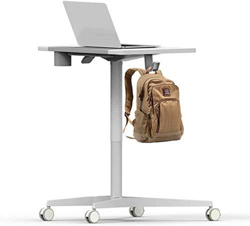 JIADUOBAO -L Laptop-Tisch mit Rollen, stehend, Konferenztisch, Vorlesungstisch, Nachttisch für Büro, Büromöbel, JIADUOBAO-L (Farbe: Weiß)