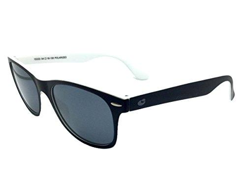 CENTROSTYLE 15333 54,gafa sol unisex,montura en negro con reverso en blanco,lentes en gris uniforme.