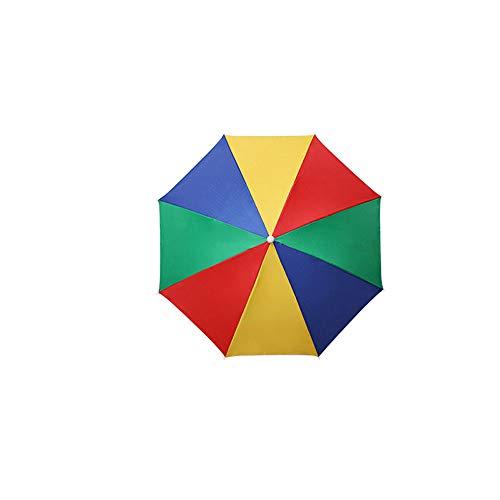 35,5 cm de diámetro de la tapa del paraguas plegable elástico protección solar impermeable ajustable multifuncional al aire libre headwear