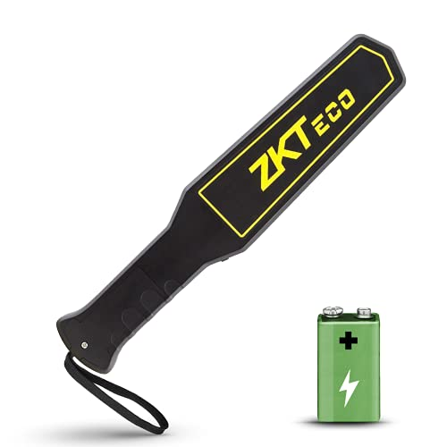 Metal Detector Wand, ZKTeco Handheld Security Super Scanner, High Accuracy Metal Detectors for Adults Kids - Adjustable Sound Vibration Alerts Safety Bars with Rechargeable Battery/Power Adapt