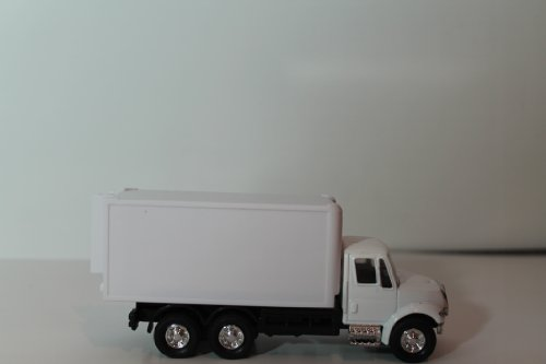 Die Cast Metal Delivery Toy Truck in White-opens Back Doors and Wheels.