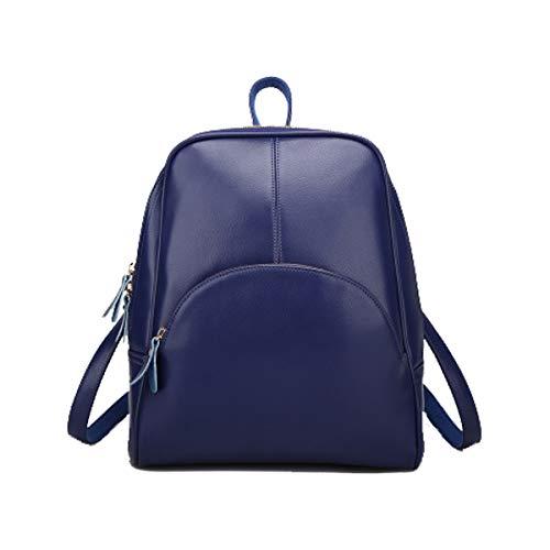 Tisdaini Bolsos mochila mujer moda casual marca colegio viaje escolares Bolsos bandolera ES896 Azul Oscuro